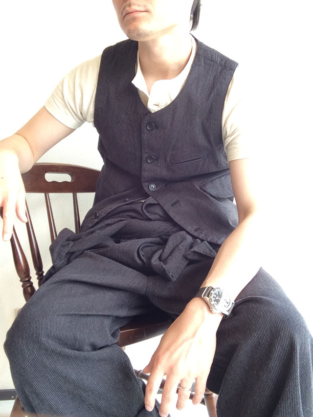 workers vest salt and pepper stripe/DjangoAtour