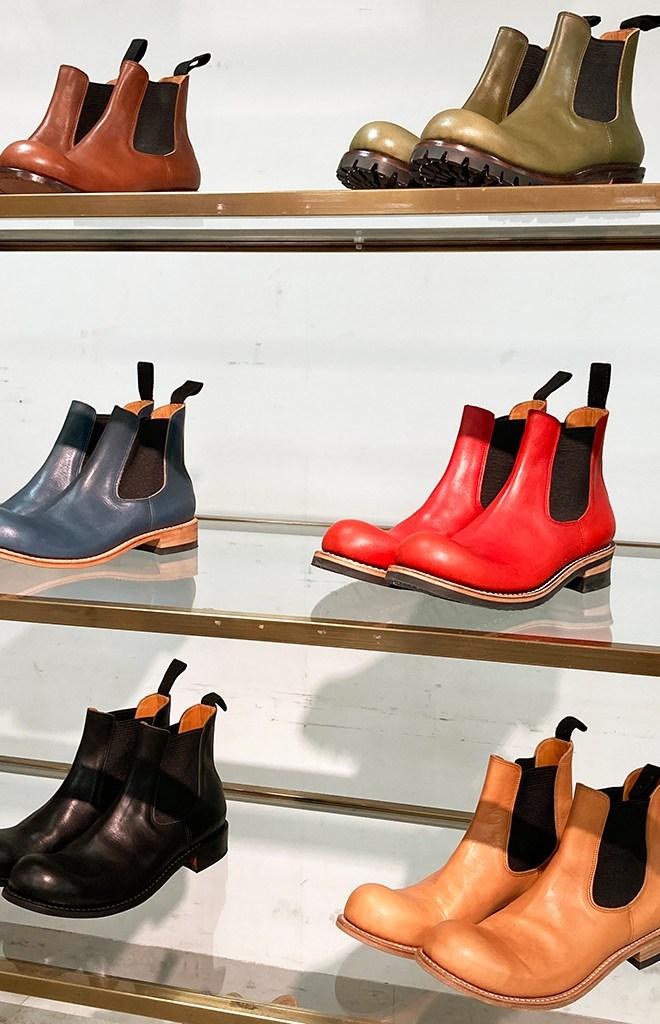 ヒラキヒミのサイドゴアブーツおでこ靴
