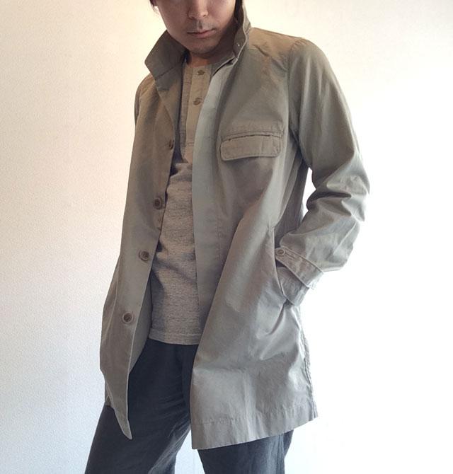 フライフロントUKコート ベージュ flyfront UK coat beige DjangoAtour