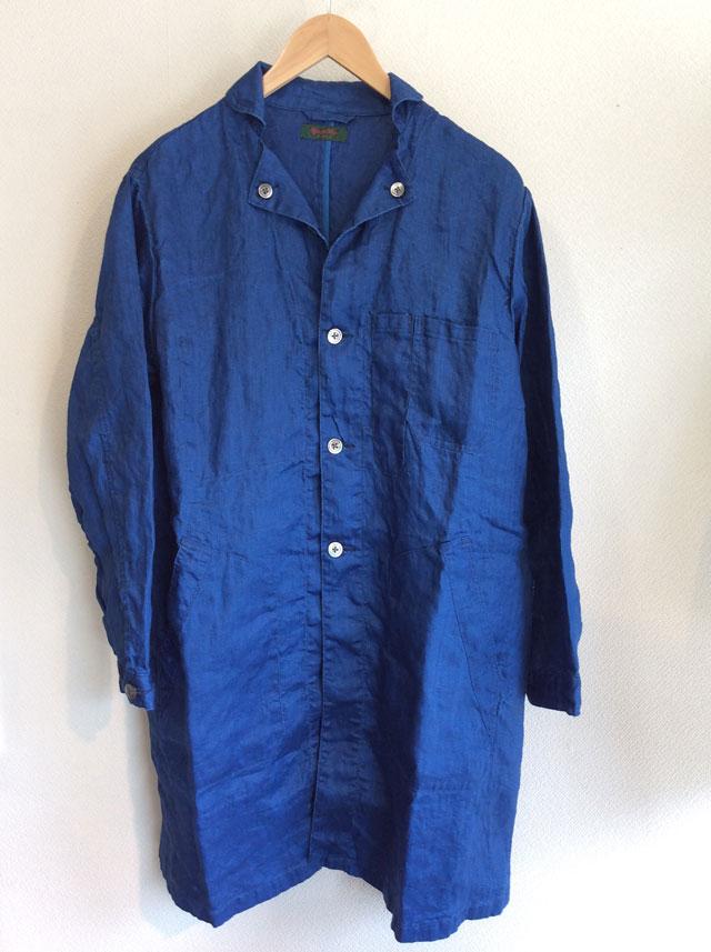 classic frenchwork indigolinen coat blueindigo