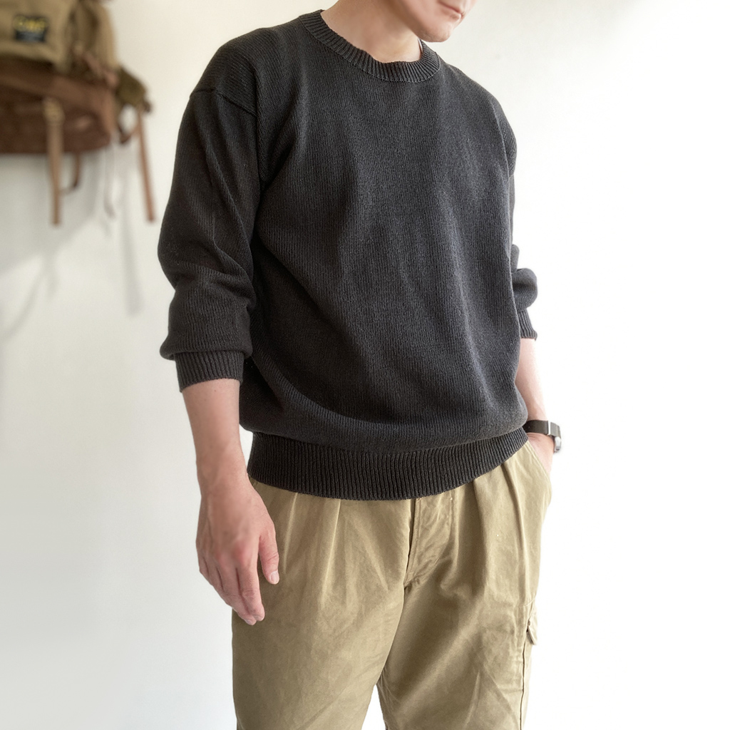 WASHI COTTON SUMMER SWEATER Charcoal/KAPTAIN SUNSHINE