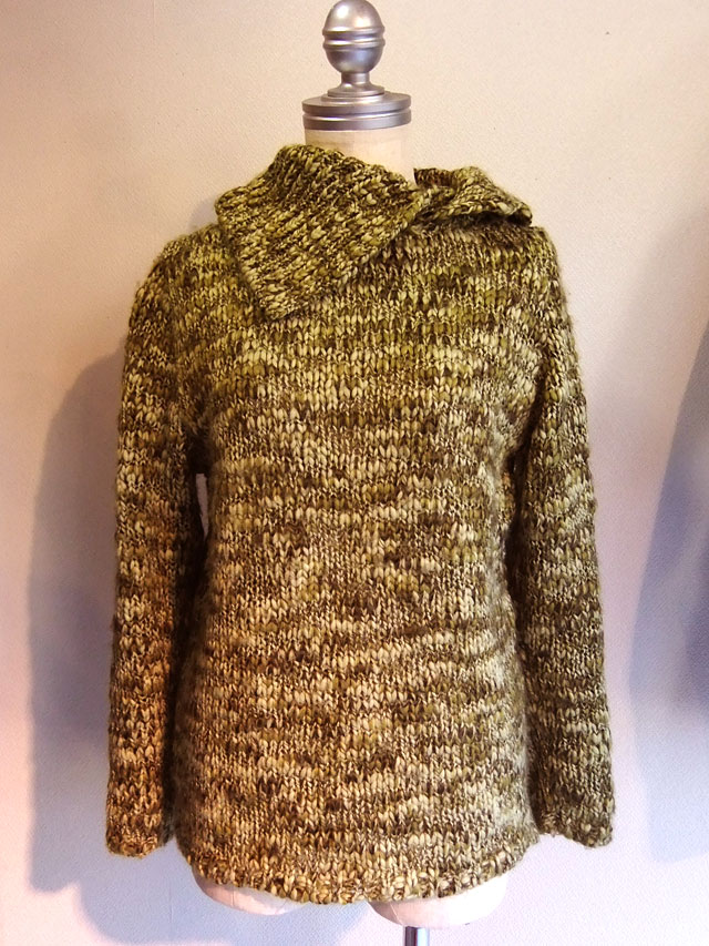 1980-1990's French Hand Knit Lemon Yellow
