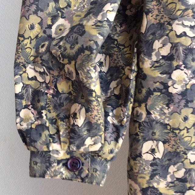 1970年代ドイツ フラワープリントワンピース 1970's German Flower Print Dress