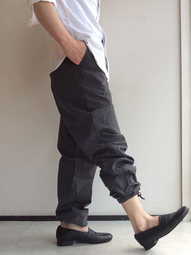 FWP Trousers, Black Chambray Workers