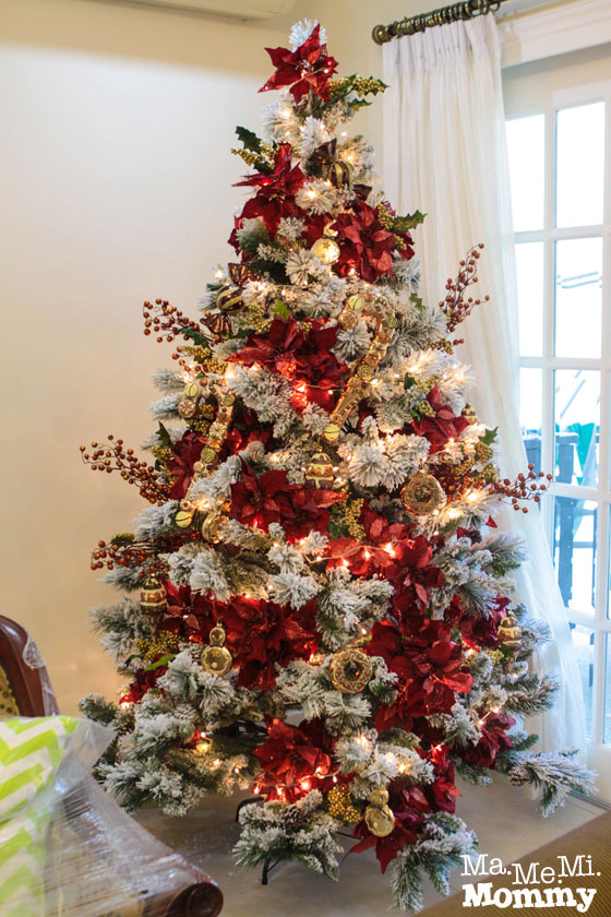 How to decorate the christmas tree ma me mi mommy - Como decorar un arbol de navidad en rojo y dorado ...