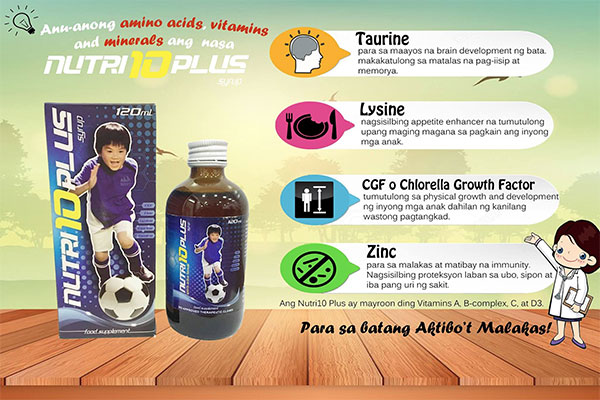 Vitamins and Minerals in Nutri10 Plus