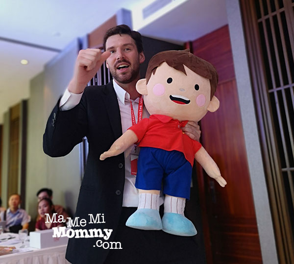 Learning Time's CEO and the official mascot, Duo Duo