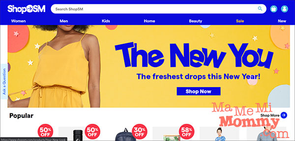 ShopSM Main Page