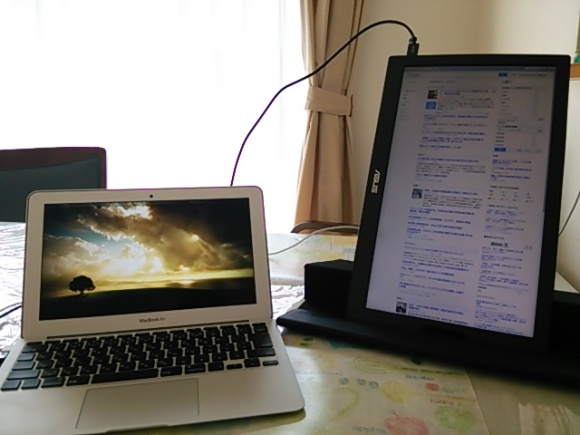 MacBook AirとMB168B+