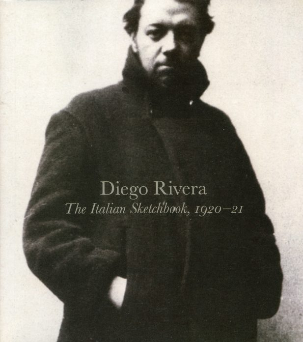 The cover of a catalogue of works by Diego Rivera showing Rivera as a young man.
