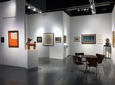 Installation shot of an art fair booth