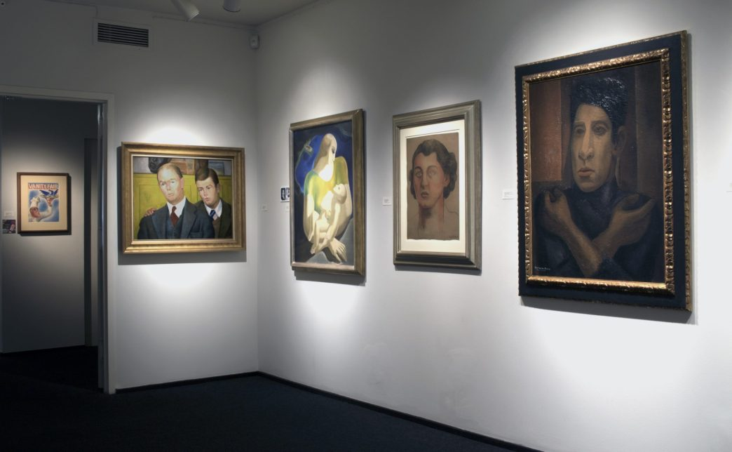 Installation shot of a show of portraiture