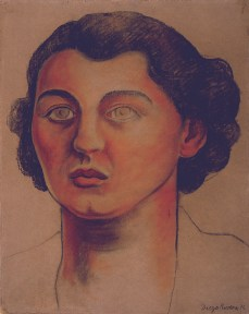 A portrait of the sister of Frida Kahlo, painted by Diego Rivera.