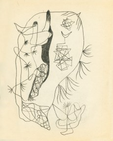 Abstract, Surrealist sketch by Gunther Gerzso