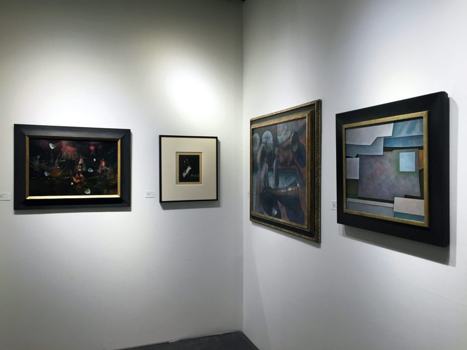 Installation shot of the gallery's booth at the Art Show 2016