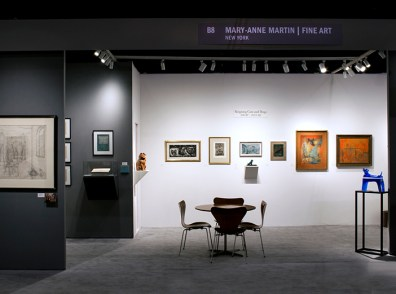 Photograph of the gallery's booth at The Art Show 2019