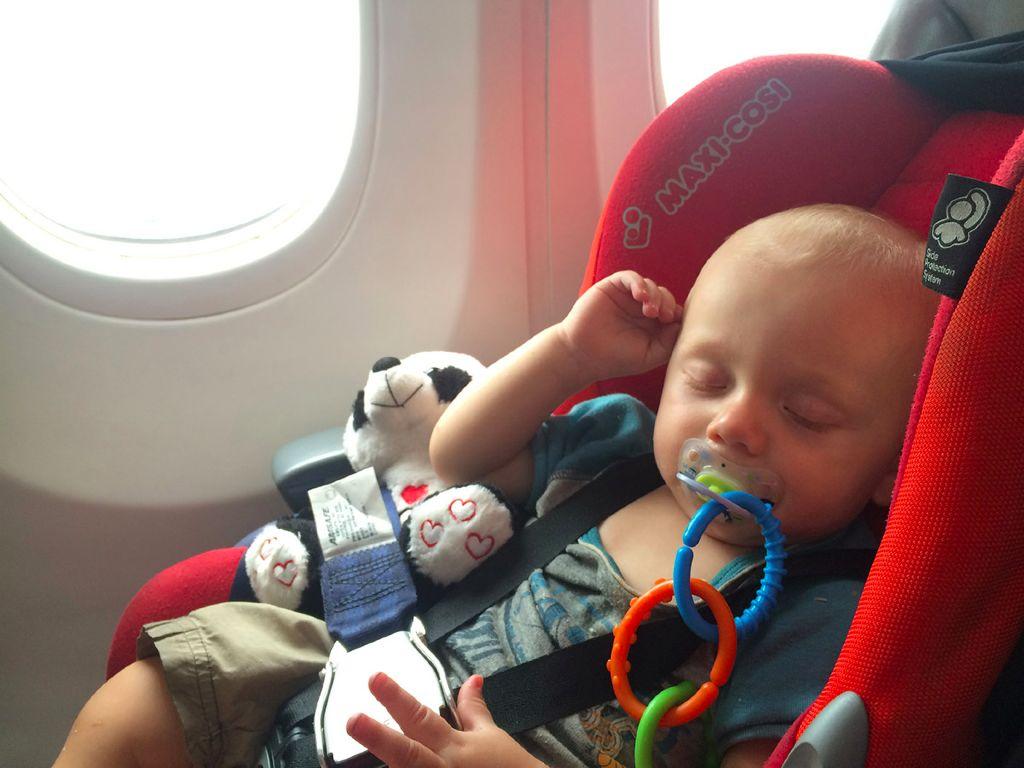 Fliegen mit Baby - Maxi Cosi