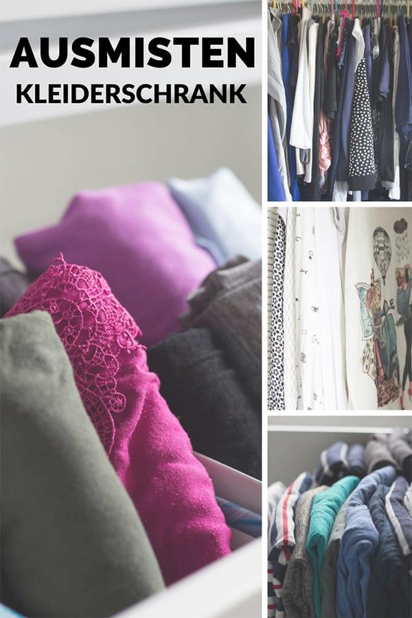 Kleiderschrank ausmisten – Pin für Pinterest