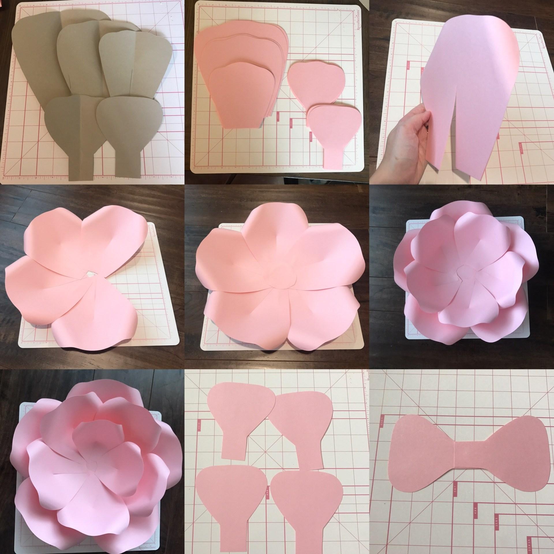 Flores De Cartulina Moldes De Flores Papel Gigantes Curso Modern