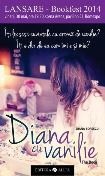 Afis Lansare - Diana cu vanilie