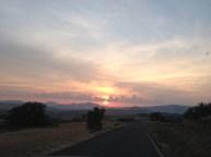 Así lució la carretera desde Murugarrén rumbo a Pamplona