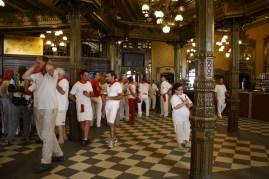 El Café Iruña, uno de los favoritos de Hemingway.