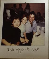 Mayo 1999. En una fiesta del periódico, junto con Marco.