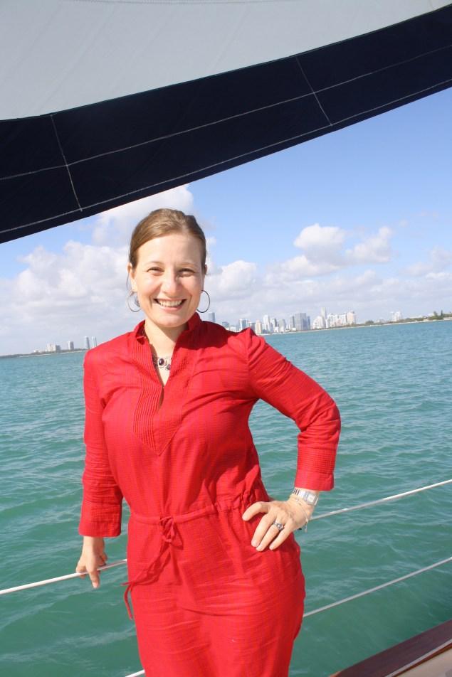 Durante un paseo en velero.