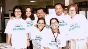 Cobertura de elecciones en verano del 2003, en el Periódico El Norte de Monterrey.