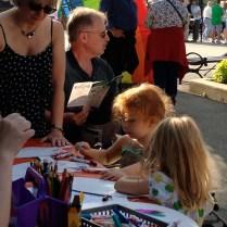 En el Irish Fest los niños podían hacer diferentes manualidades.