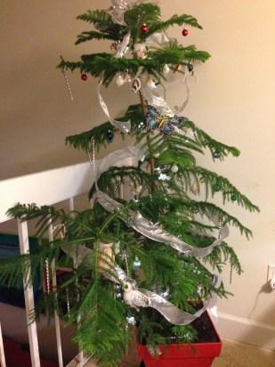 Así quedó el pino ya adornado.