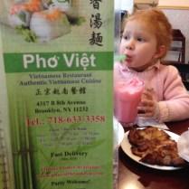 Menú del Pho Viet.