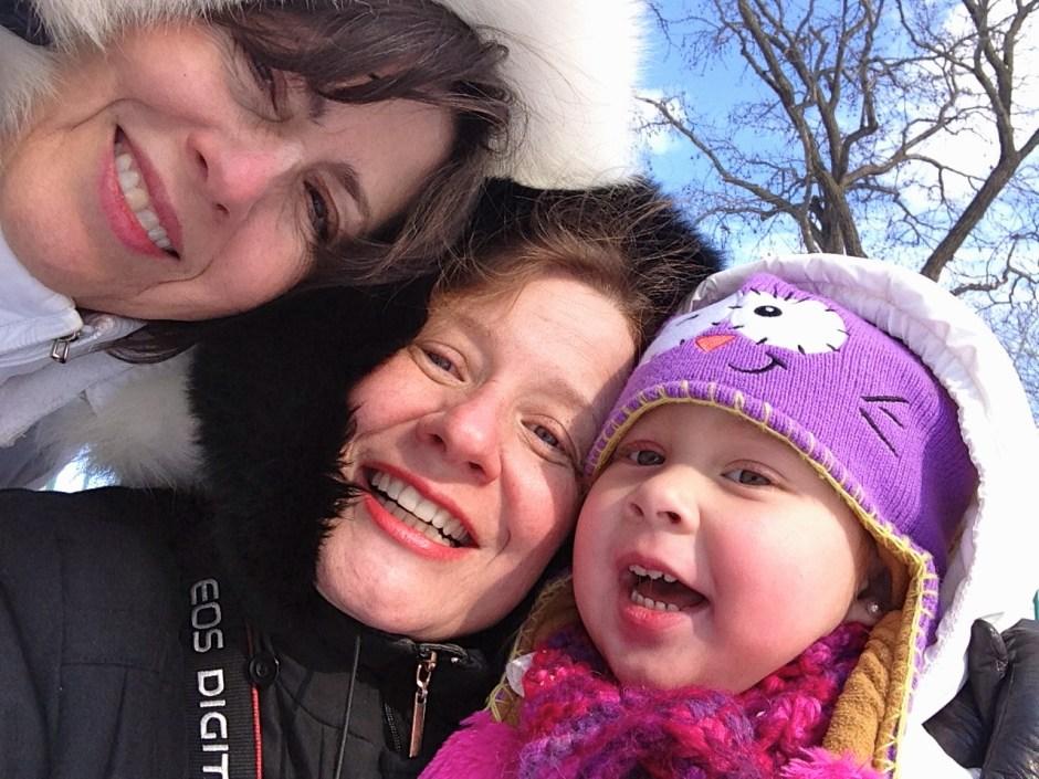 ¡Selfie de tres generaciones!