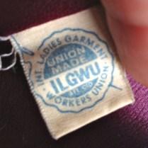 La etiqueta de ILGWU, que indica que fue hecho en Estados Unidos por trabajadores afiliados al sindicato.