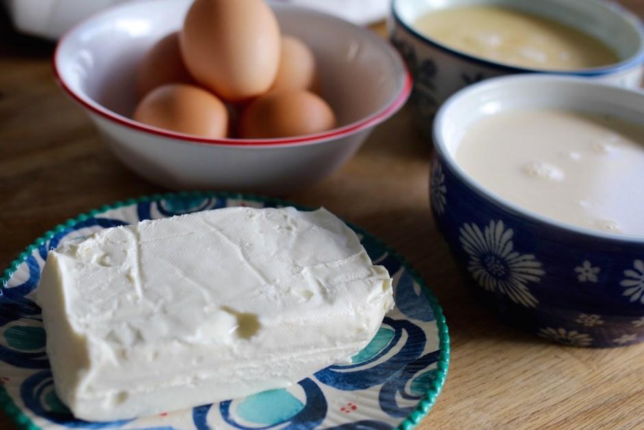 Flan de queso crema al vapor