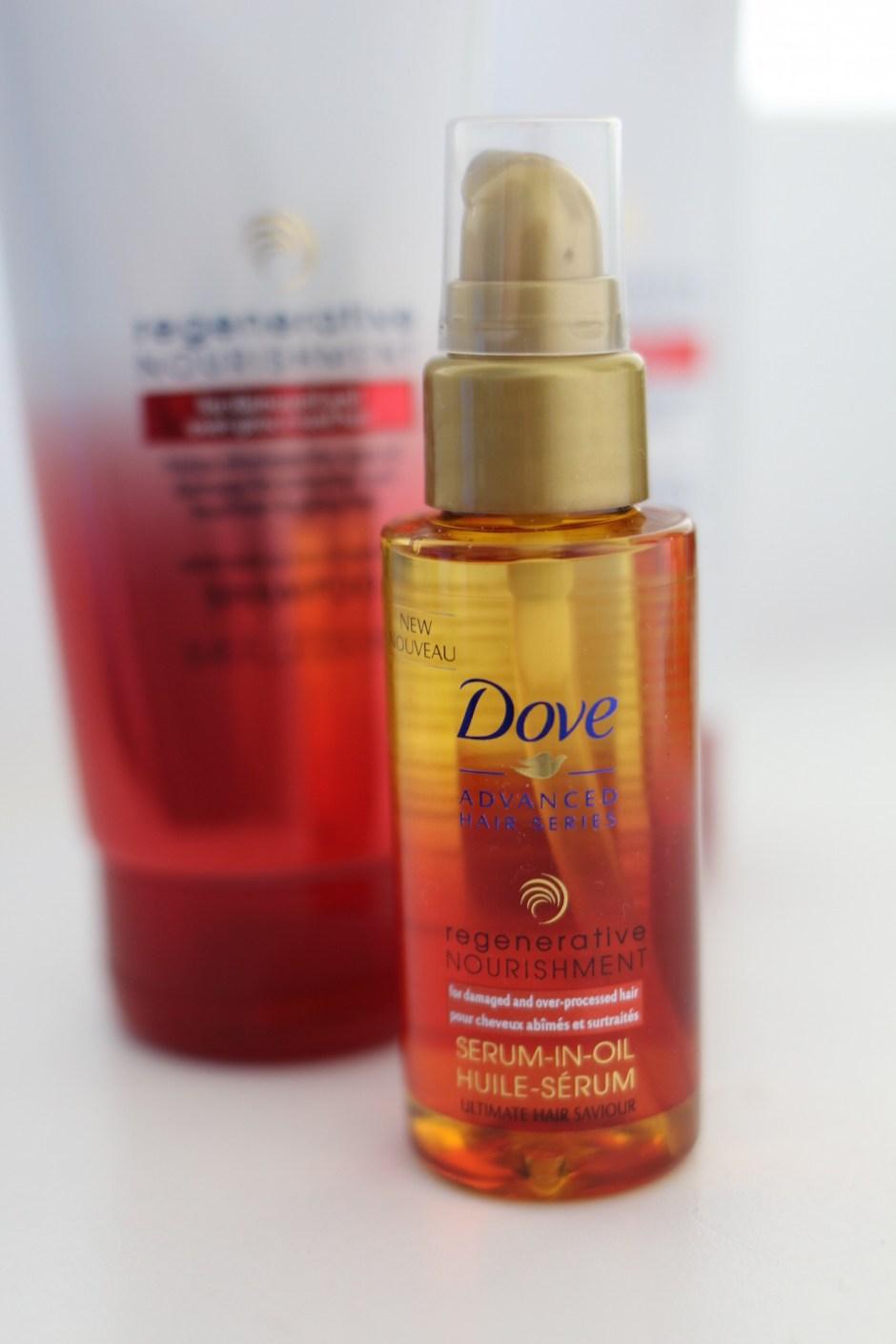 Aceite para el pelo de Dove