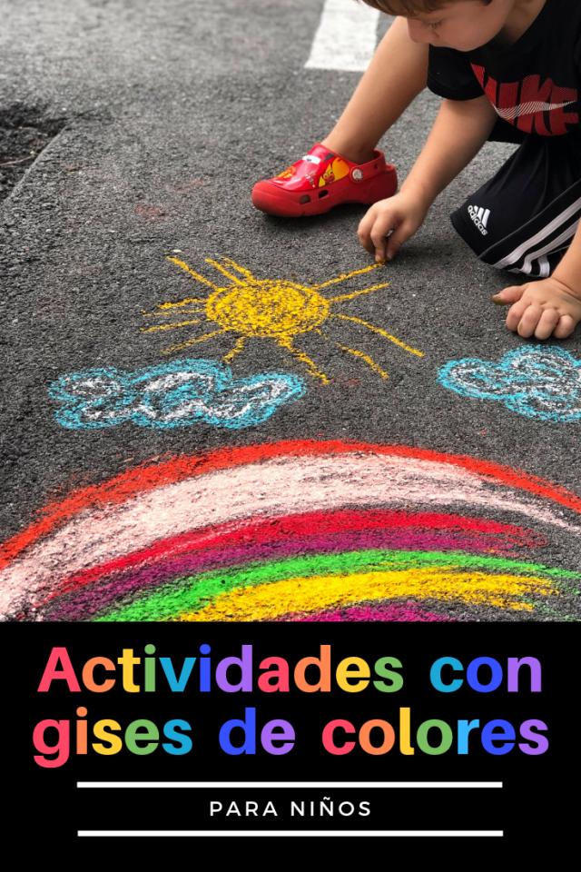 Actividades con gises de colores Pinterest