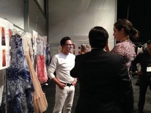 Luis Antonio durante las entrevistas.