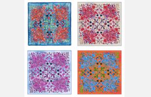 Estos son los motivos florales de la nueva colección de Pineda Covalín, inspirados en la hermosa flora mexicana.