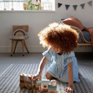 Little Dutch fa játék vonat építőelemekkel pure&nature
