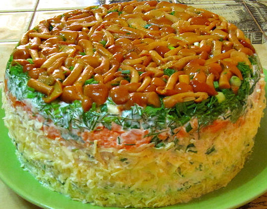 Салат Грибная поляна | Мамина кухня
