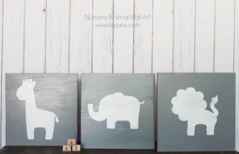 Diy-nursery-animal-wall-art
