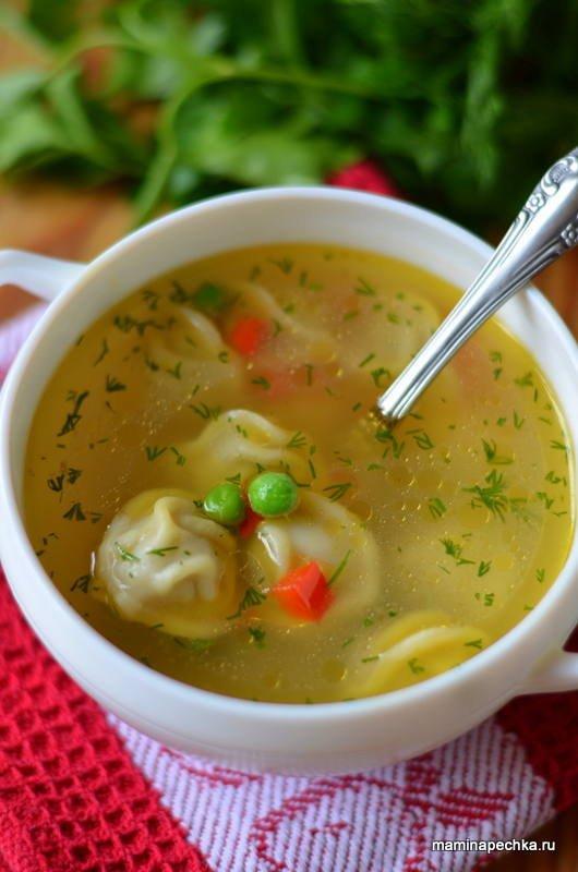Суп с пельменями • домашний рецепт. С фото!