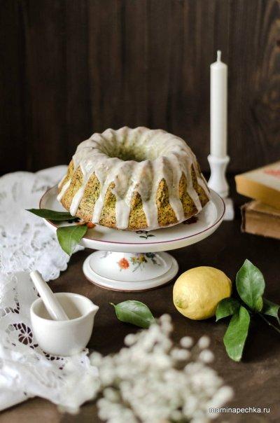 Лимонный кекс с куркумой и маком