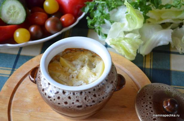картофель в горшочке