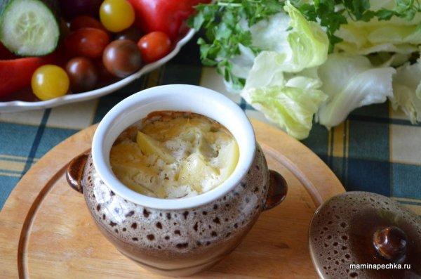 Картошка в глиняном горшочке пошаговый фоторецепт