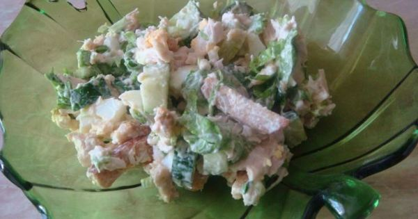 Мамин рецепт салата цезарь fusion с фото пошагово