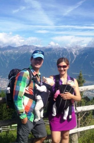 Hiking with Baby around Innsbruck: View of Innsbruck and the Nordkette