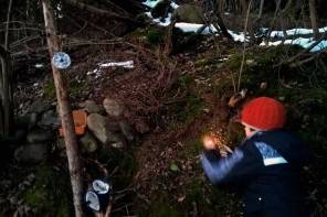 Weihnachten im Wald und auf Skiern