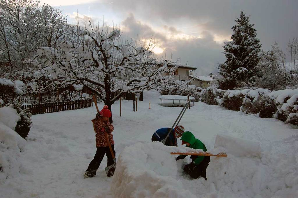 Gemütliches Wochenende mit Schnee: Endlich daheim!